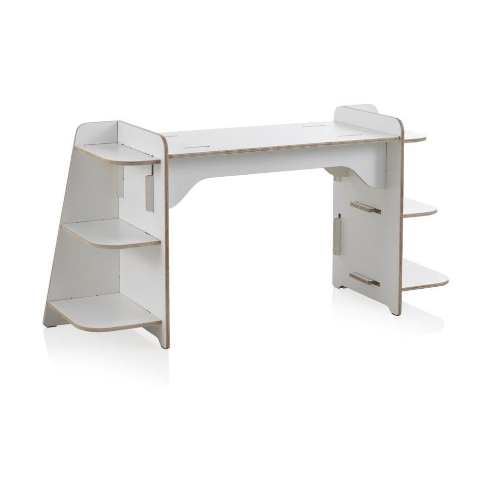 65b3f2e12cc6 Biely detský písací stôl z preglejky Geese