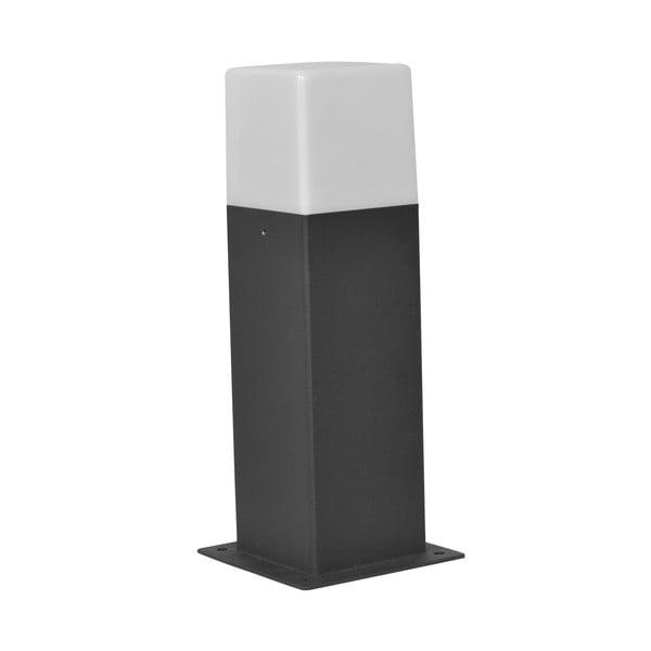 Sivé vonkajšie stojacie svetlo Trio Hudson, výška 30 cm