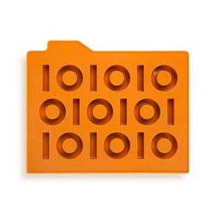 Forma na ľad Binary, oranžová