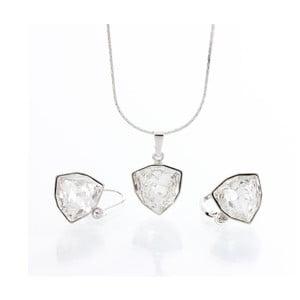 Set náhrdelníku a náušníc Laura Bruni Geometric Rhodium