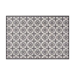 Čierny vinylový koberec Zala Living Sia, 195×120cm