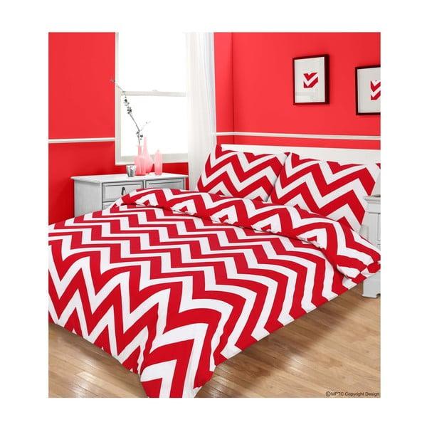 Obliečky Zigzag Red, 135x200 cm
