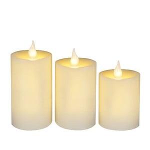 Sada 3 LED sviečok Wachs Candle