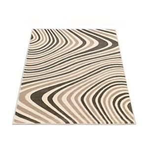 Koberec Webtappeti Reflex Brown Stripes, 80 x 150 cm