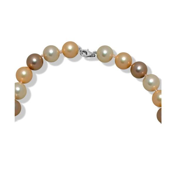 Béžový perlový náhrdelník Mara de Vida New Morning, dĺžka 60cm