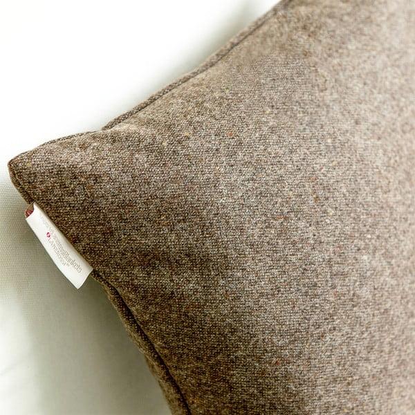 Vlnený vankúš Tweed 40x40 cm, hnedý