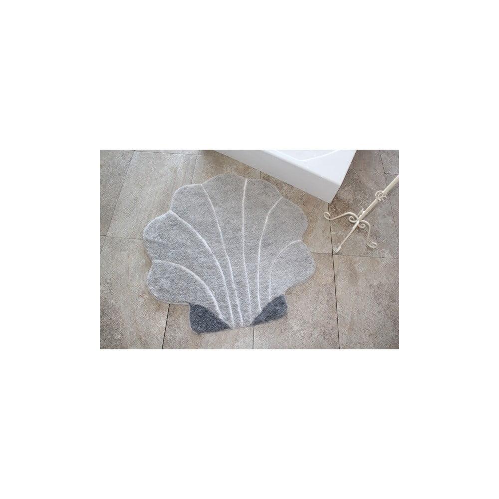 Kúpeľňová predložka Shell Grey, Ø 90 cm