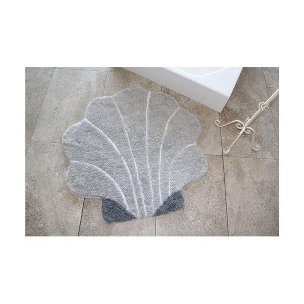 Kúpeľňová predložka Shell Grey, Ø90 cm