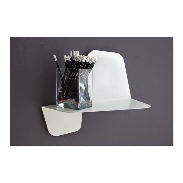Biela nástenná polica MEME Design Flap, dĺžka 60 cm