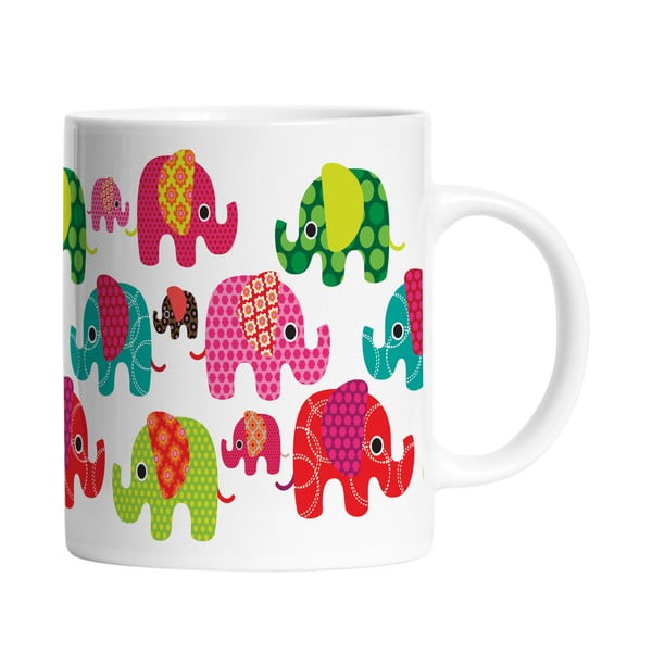 Keramický hrnček Elephants in Love, 330 ml
