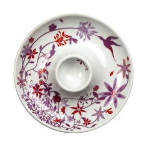 Sada 2 tanierov s kalíškom na vajce Birds Cup, fialový
