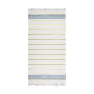 Modro-béžová hammam osuška Deco Bianca Loincloth Light Blue, 80x170cm