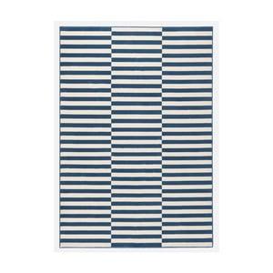 Modro-biely koberec Hanse Home Gloria Panel, 80 x 150 cm