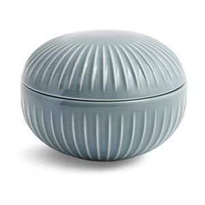 Sivá porcelánová dóza Kähler Design Hammershoi, ⌀ 11,5 cm