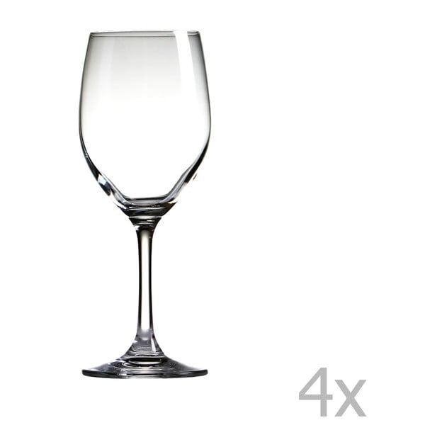 Sada 4 pohárov na víno Sola Chardonnay, 350 ml