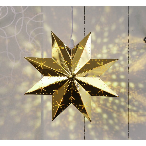 Kovová svietiaca hviezda vo farbe mosadze Best Season Brass Star Classic