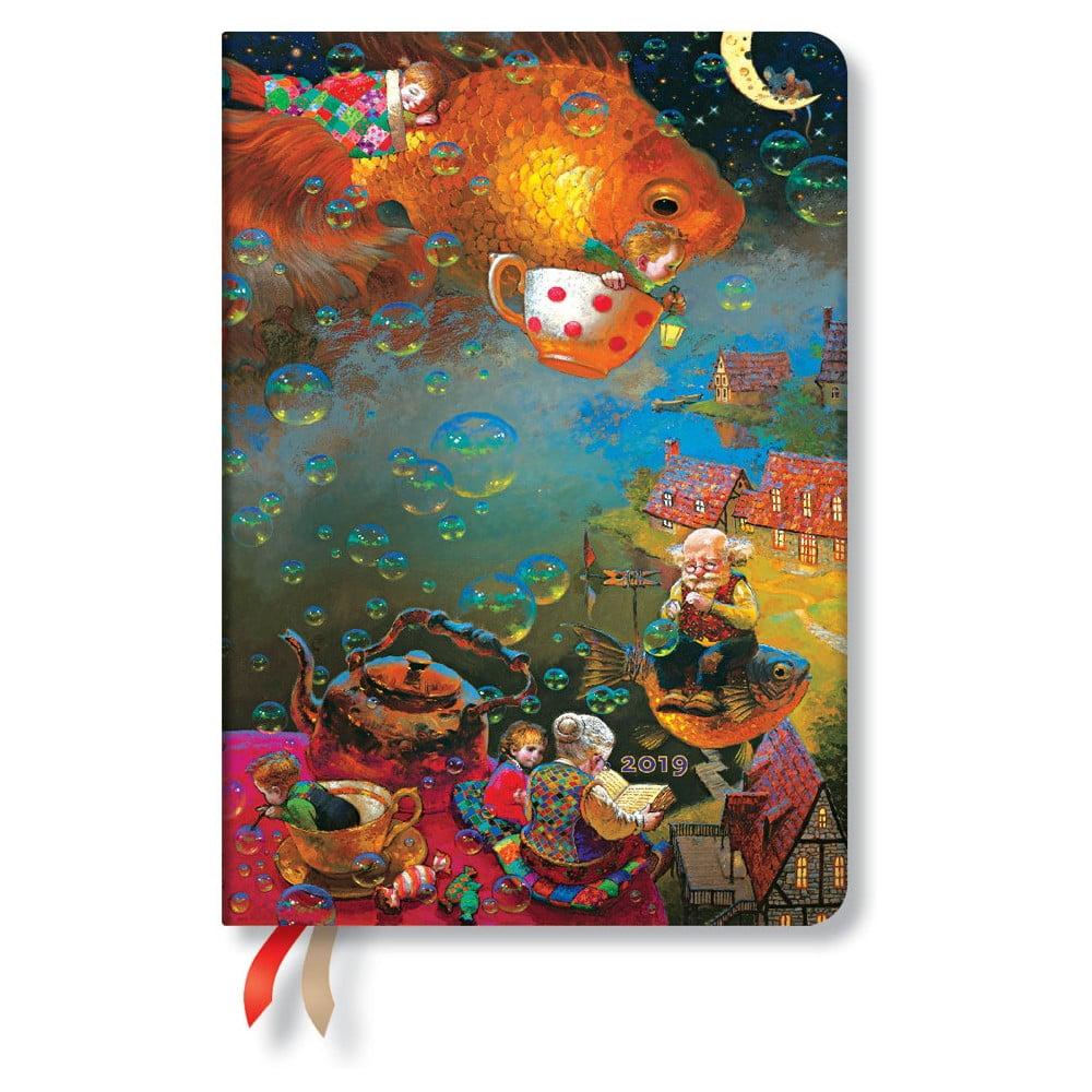 Diár na rok 2019 Paperblanks Imagination Verso, 12 x 17 cm