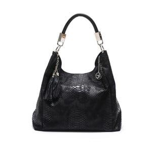 Čierna kožená kabelka Carla Ferreri Foto