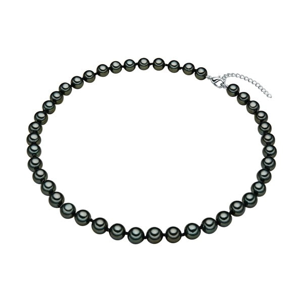 Perlový náhrdelník Muschel, zelené perly 8 mm, dĺžka 40 cm