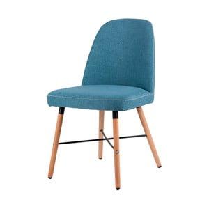 Modrá jedálenská stolička s podnožím z bukového dreva sømcasa Kalia