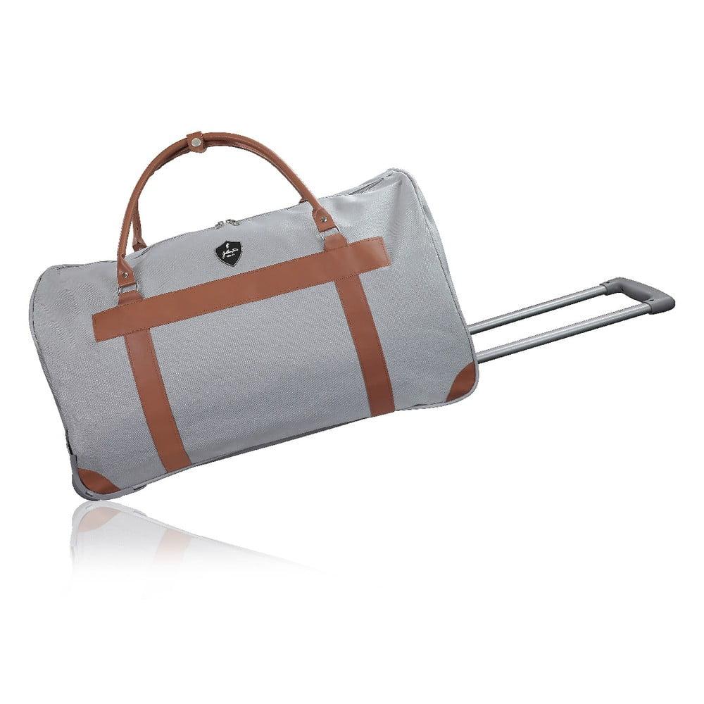 Sivá cestovná taška na kolieskach GENTLEMAN FARMER Oslo, 63 l