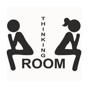 Dekoratívna samolepka na stenu Thinking Room