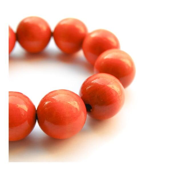 Oranžový drevený náramok ko–ra–leBubbles