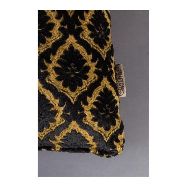 Čierny vankúš Dutchbone Ottava, 45×45 cm