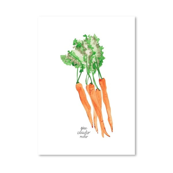 Autorský plagát Carrots, 30x42 m