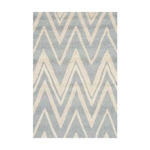 Vlnený koberec Luca Blue, 91x152 cm