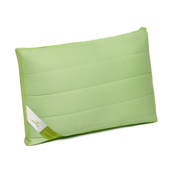 Zelený vankúš bambusovou výplňou Perna Nature Green Future, 45 x 65 cm
