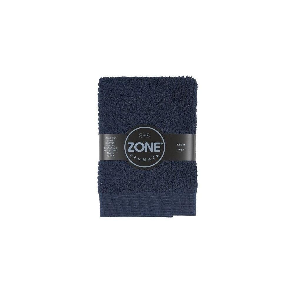 Tmavomodrý uterák Zone Classic, 70 x 50 cm
