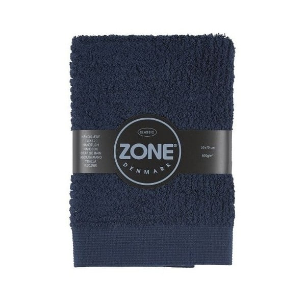 Tmavomodrý uterák Zone, 70x50cm