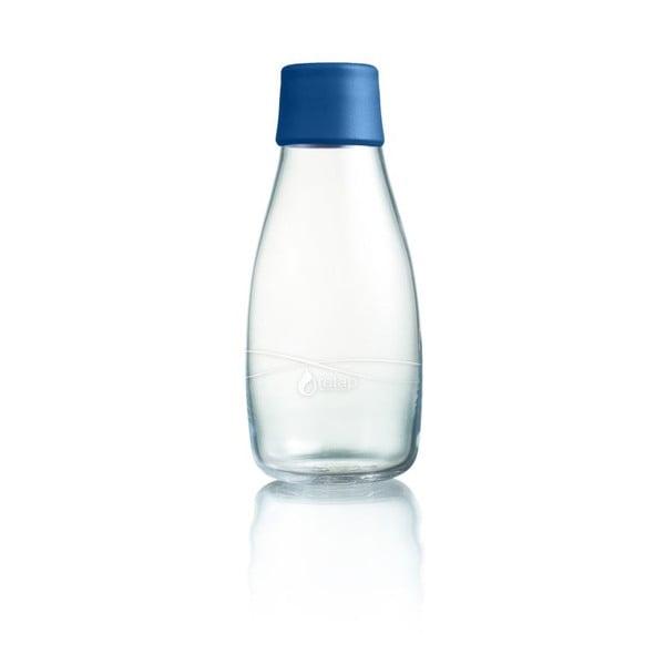 Tmavomodrá sklenená fľaša ReTap s doživotnou zárukou, 300 ml