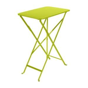 Svetlozelený záhradný stolík Fermob Bistro, 37×57 cm