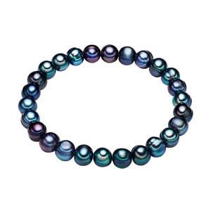 Modrý perlový náramok Chakra Pearls, 17 cm