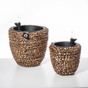 Set 2 kvetináčov so zavlažovacím systémom Brownie