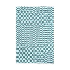 Tyrkysovo-biely obojstranný koberec vhodný aj do exteriéru Green Decore Marizco, 90 × 150 cm