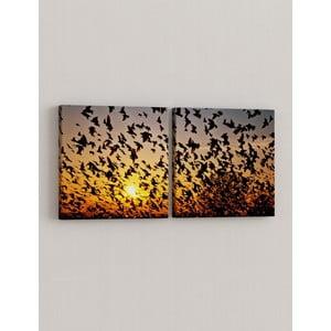 Sada 2 obrazov Kŕdeľ vtákov