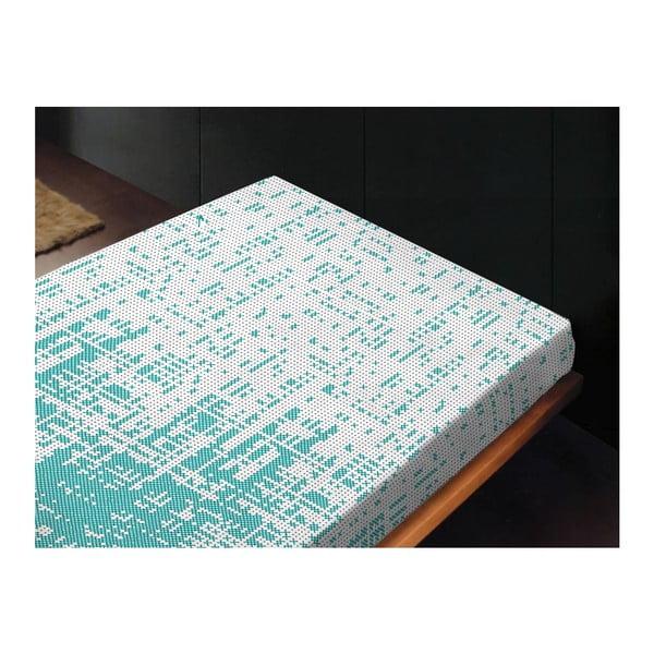 Neelastická posteľná plachta Canevas Azul, 180x260 cm