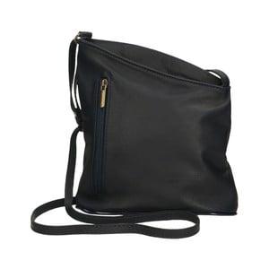 Čierna kožená kabelka Chicca Borse Garturo