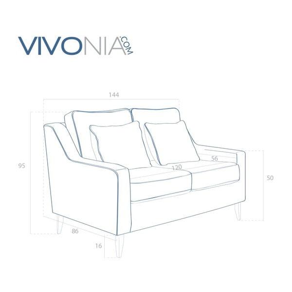 Hnedá pohovka pre dvoch Vivonita Bond