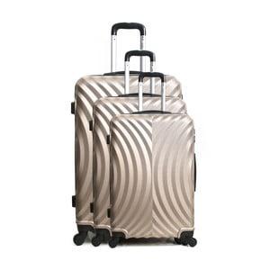 Sada 3 cestovných kufrov na kolieskach vo farbe champagne Hero Lagos