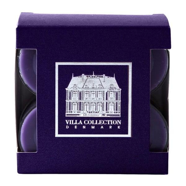 Sada 8 čajových sviečok s vôňou levandule a limetky Villa Collection