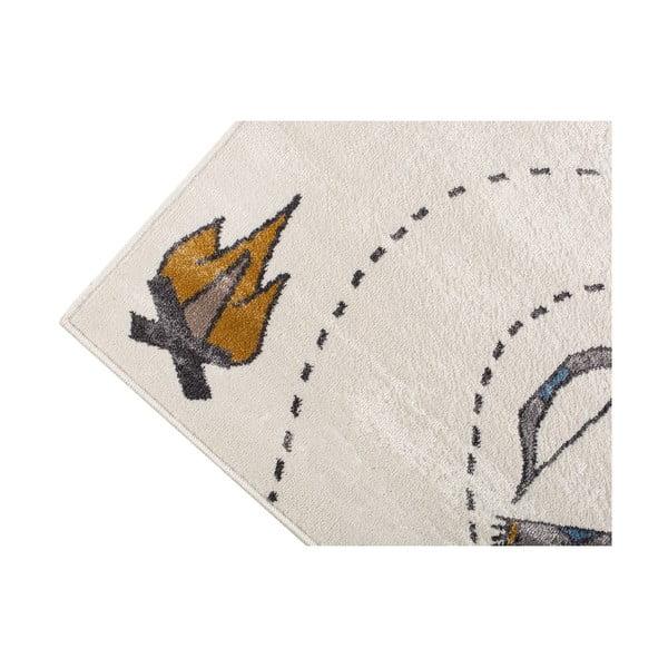 Svetlý koberec s indiánskym motívom KICOTI Light, 133 × 190 cm