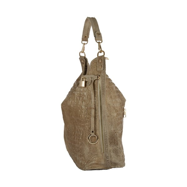 Béžová kabelka z pravé kůže Andrea Cardone Edvige