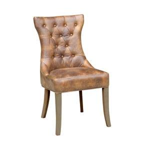 Hnedá kožená stolička Miloo Home William