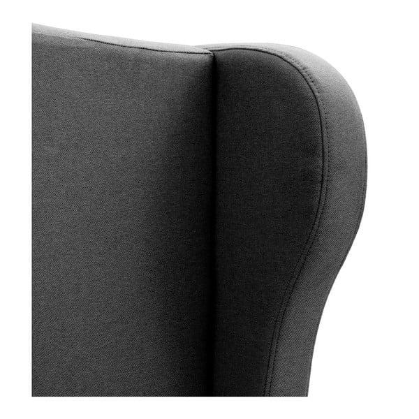 Tmavosivá posteľ VIVONITA Windsor 140x200cm, svetlé nohy