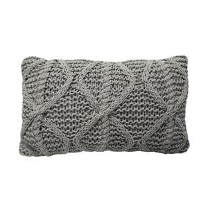 Sivý pletený vankúš OVERSEAS Diamond, 30x50cm