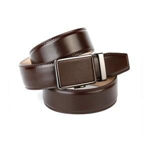 Pánsky kožený opasok 37040 Chocolate, 90 cm